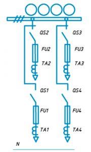 Шкафы ЩО-90 схема №8