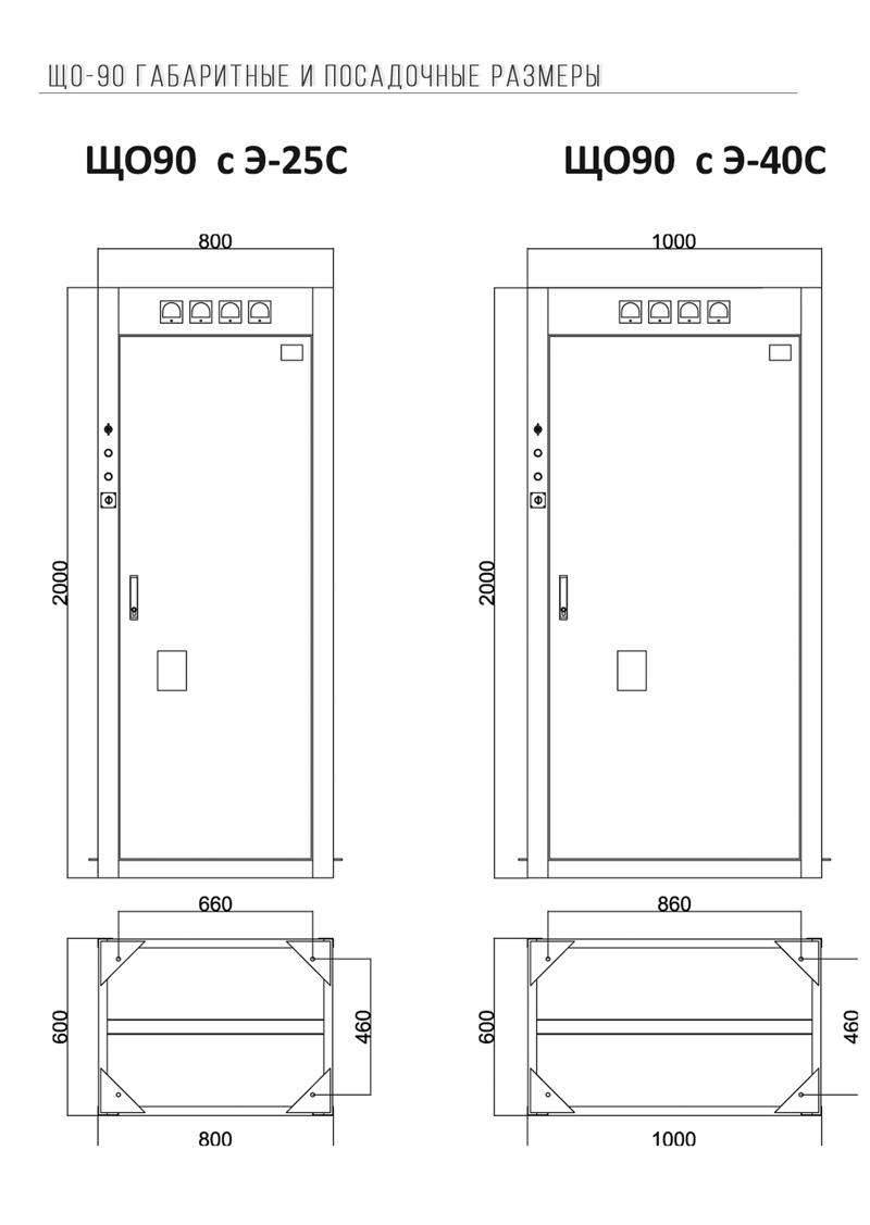 ЩО-90 панель габариты