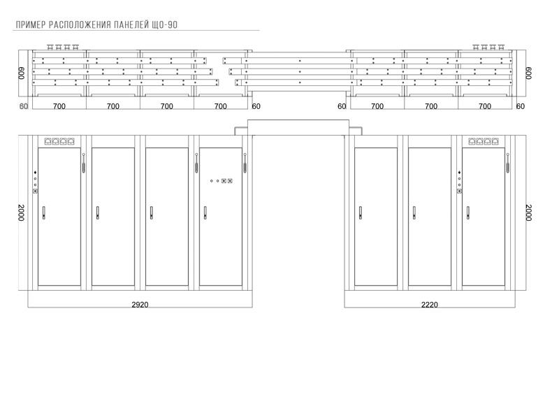 Пример расположения шкафа ЩО-90